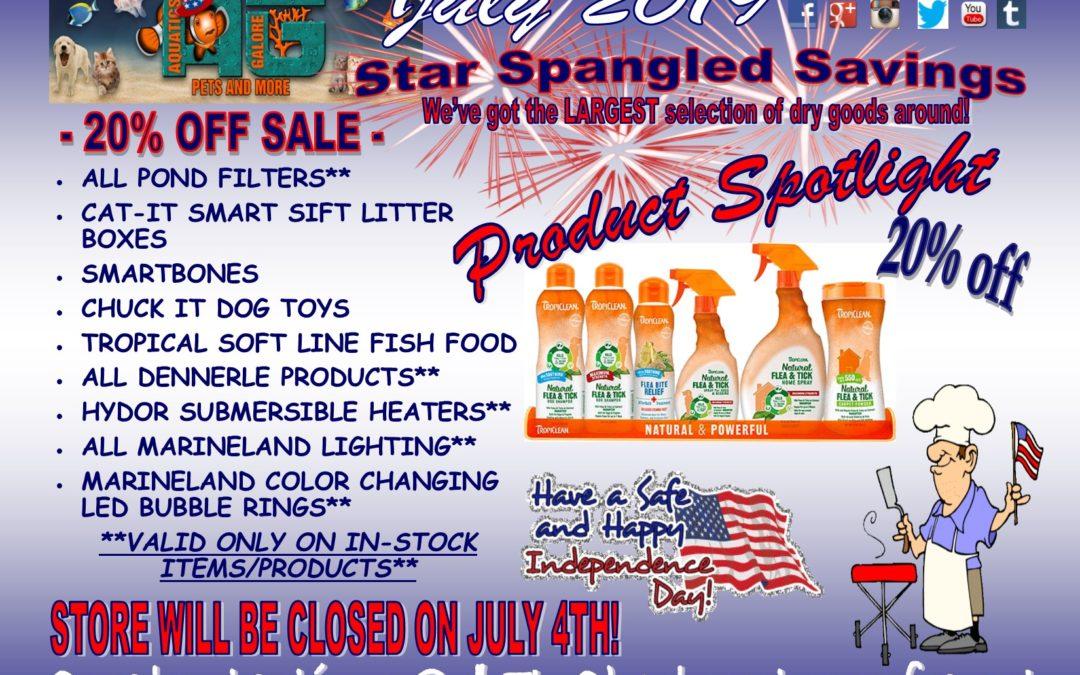 Star Spangled Savings Thru July!