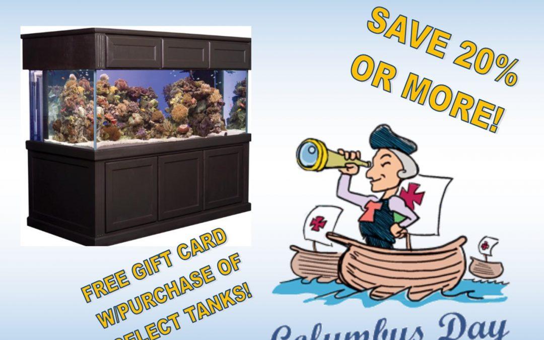 Columbus Day Tank Sale